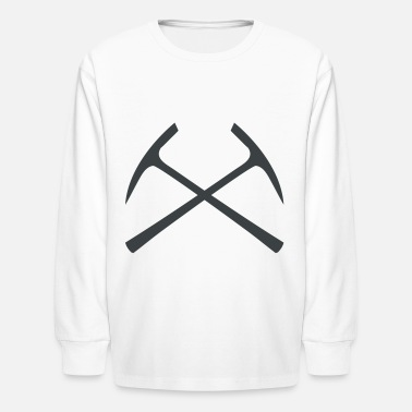 Pickaxe pickaxe crossed - Kids' Longsleeve Shirt