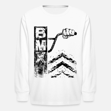 Bmx Behind Bmx Bars - Kids' Long Sleeve T-Shirt