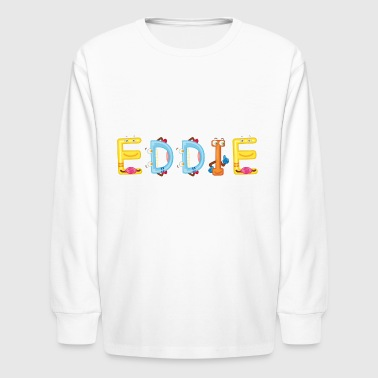 Eddied Eddie - Kids' Long Sleeve T-Shirt