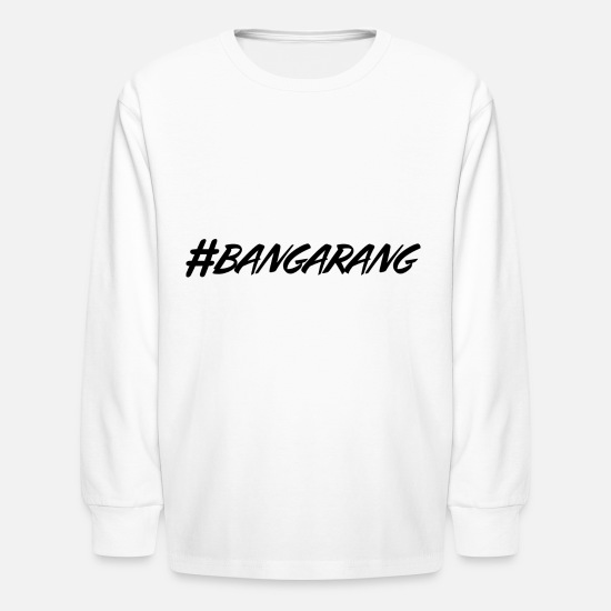hashtag, hash, for story, stories, story, bang Kids' Long Sleeve T-Shirt -  white