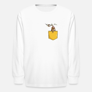 Monkey Butt monkey butt pocket - Kids' Long Sleeve T-Shirt