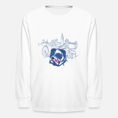 London London with dog - Kids' Long Sleeve T-Shirt