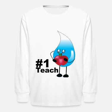 Teaching #1 Teach - Kids' Longsleeve Shirt