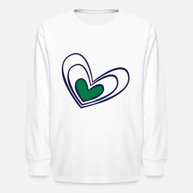 Corazon Hand drawn heart - Kids' Longsleeve Shirt