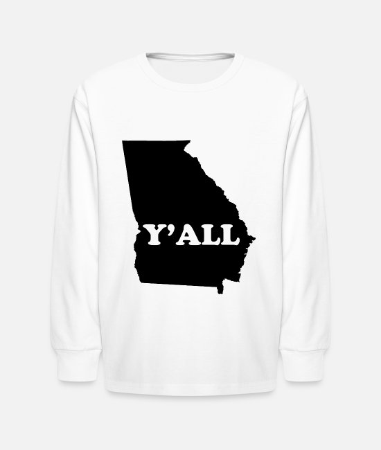 Yall Long-Sleeved Shirts - Georgia Yall - Kids' Longsleeve Shirt white