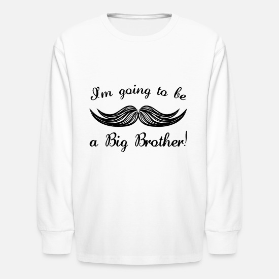 Big Long-Sleeve Shirts - Big Brother - Kids' Longsleeve Shirt white
