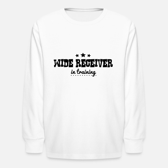 Wide Long-Sleeve Shirts - wide receiver in training - Kids' Longsleeve Shirt white