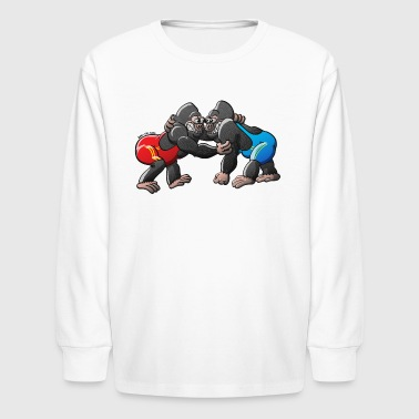 Wrestling Olympic Wrestling Gorillas - Kids' Long Sleeve T-Shirt