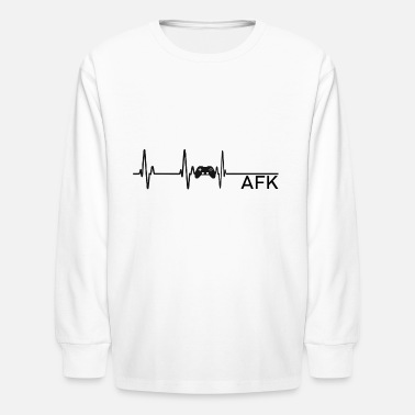 Going AFK is like dying - Kids' Longsleeve Shirt