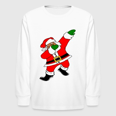 Dab Black Santa Claus - Kids' Long Sleeve T-Shirt