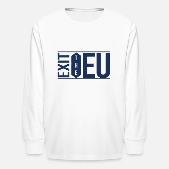 Eu Long-Sleeve Shirts - EU Elections - Kids' Longsleeve Shirt white