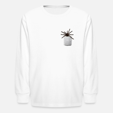 Illusion Mygalomorphae in pocket tee - Kids' Longsleeve Shirt