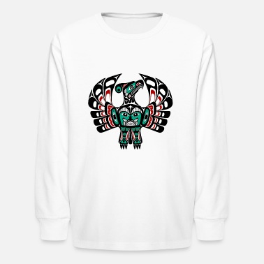 First Nations Northwest Pacific coast Haida art Thunderbird - Kids' Long Sleeve T-Shirt