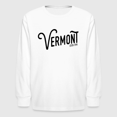 Vermont Script - Kids' Long Sleeve T-Shirt