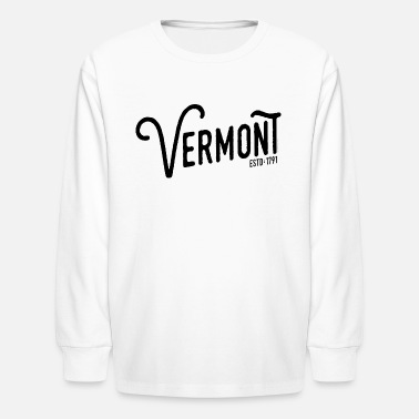Vermont Vermont Script - Kids' Long Sleeve T-Shirt