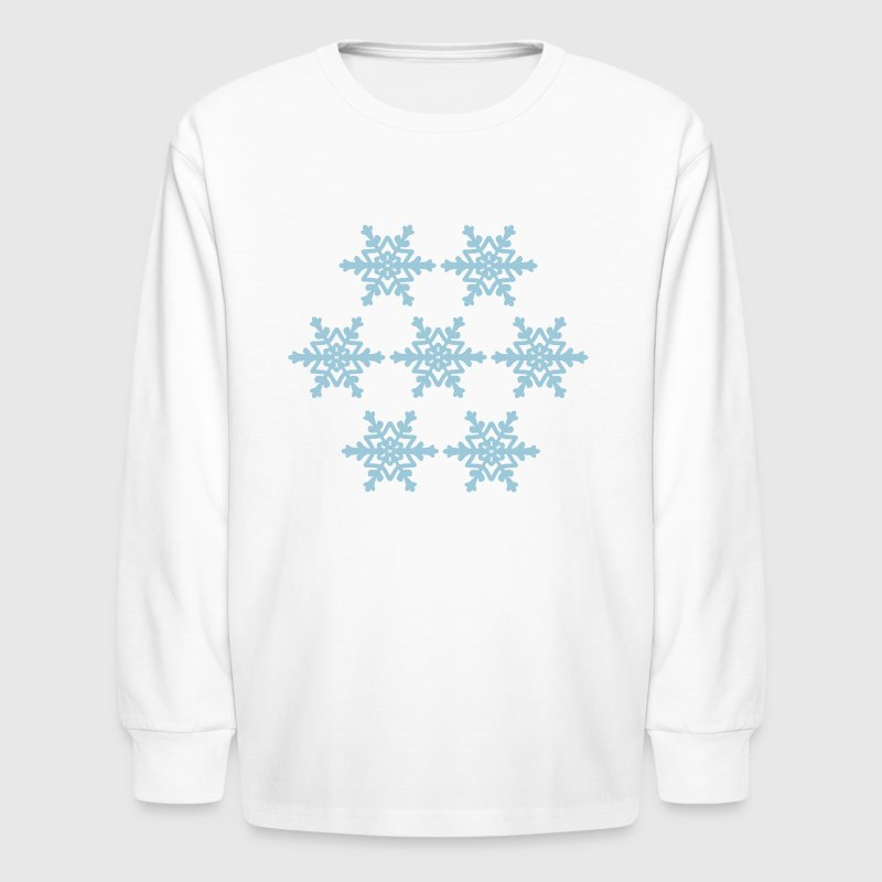 Snowflakes - Kids' Long Sleeve T-Shirt