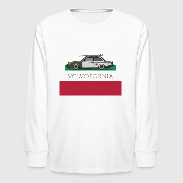 Volvofornia Slammed Volvo 242 Coupe - Kids' Long Sleeve T-Shirt