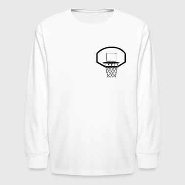 Basket Hoop - Kids' Long Sleeve T-Shirt