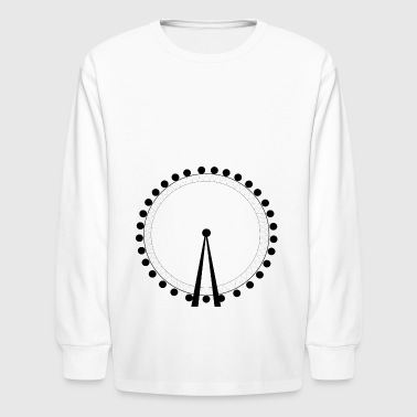 achterbahn riesenrad ferris wheel roller coaster13 - Kids' Long Sleeve T-Shirt