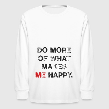 Think of me and show me, too. - Kids' Long Sleeve T-Shirt