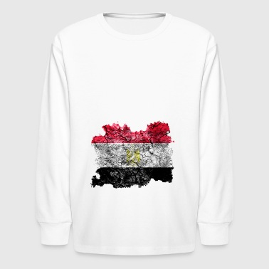Egypt Vintage Flag - Kids' Long Sleeve T-Shirt