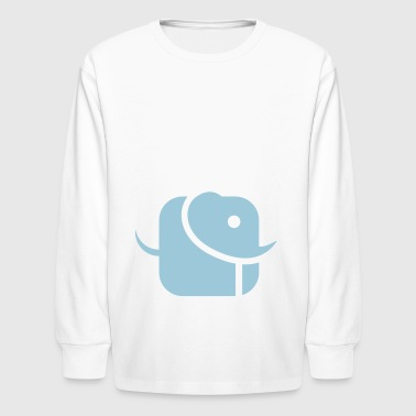 Elephant signet - Kids' Long Sleeve T-Shirt
