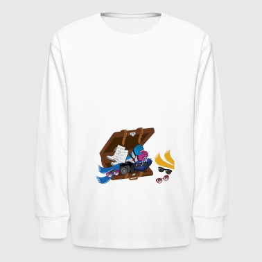 winter vacation suitcase - Kids' Long Sleeve T-Shirt