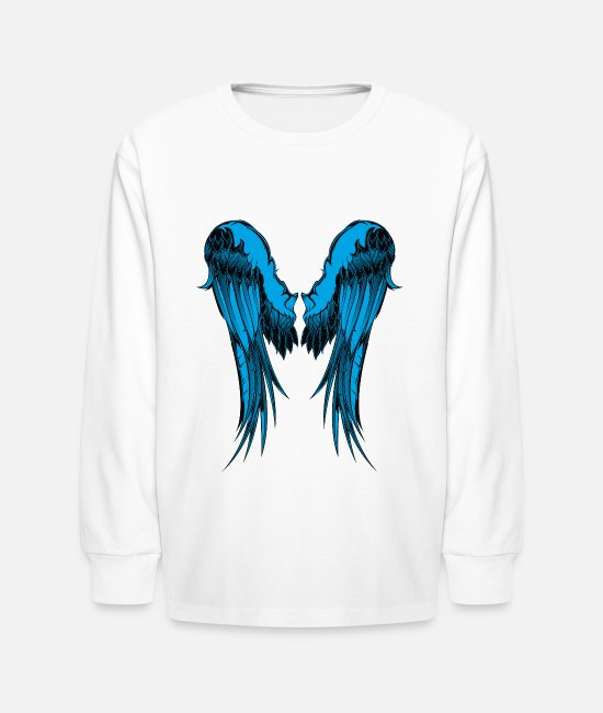 Wing Long-Sleeved Shirts - Blue Wings - Kids' Longsleeve Shirt white