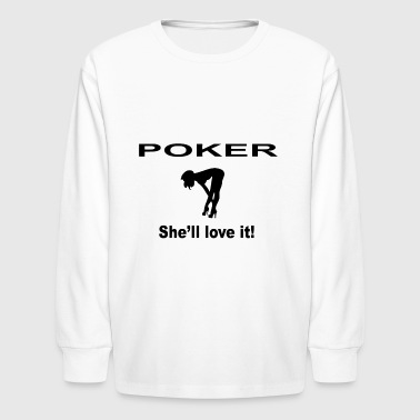 POKER - Kids' Long Sleeve T-Shirt