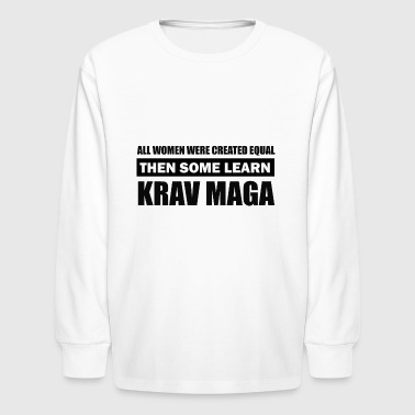 kravmaga design - Kids' Long Sleeve T-Shirt