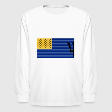 Bajan American flag - Kids' Long Sleeve T-Shirt