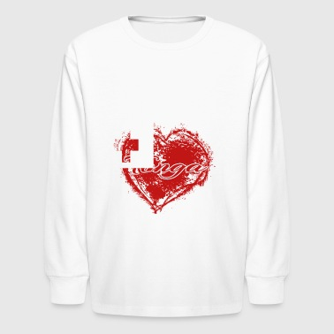 HOME ROOTS COUNTRY GIFT LOVE Tonga - Kids' Long Sleeve T-Shirt