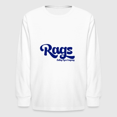 RAGSCLOTHINGLOGOBLUE - Kids' Long Sleeve T-Shirt