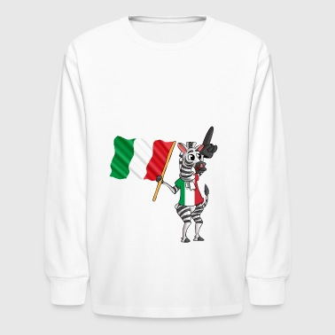 An Italian Zebra - Kids' Long Sleeve T-Shirt