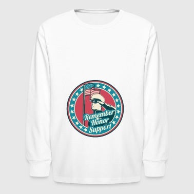 Military Appreciation - Kids' Long Sleeve T-Shirt