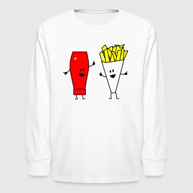 french fries ketchup - Kids' Long Sleeve T-Shirt