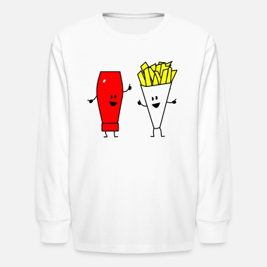 Ketchup And Fries french fries ketchup - Kids' Long Sleeve T-Shirt