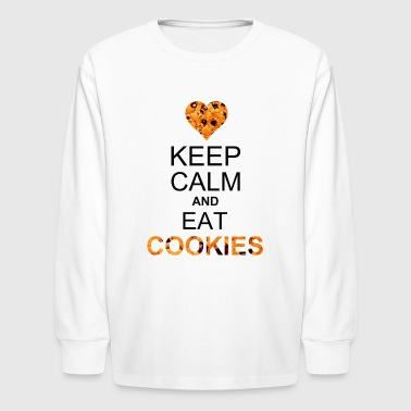 keep calm and eat cookies - Kids' Long Sleeve T-Shirt