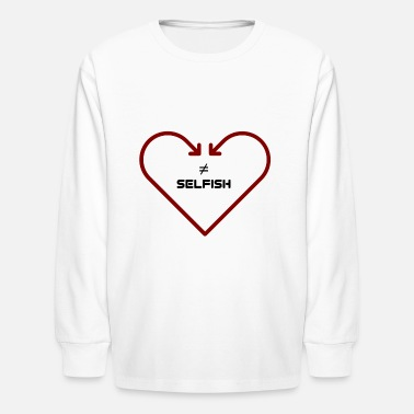 Self-conceited love is not self-seeking - Kids' Long Sleeve T-Shirt