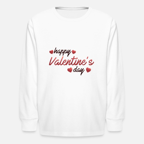 Happy Valentines Day Special Love Affaction Quotes Kids Longsleeve