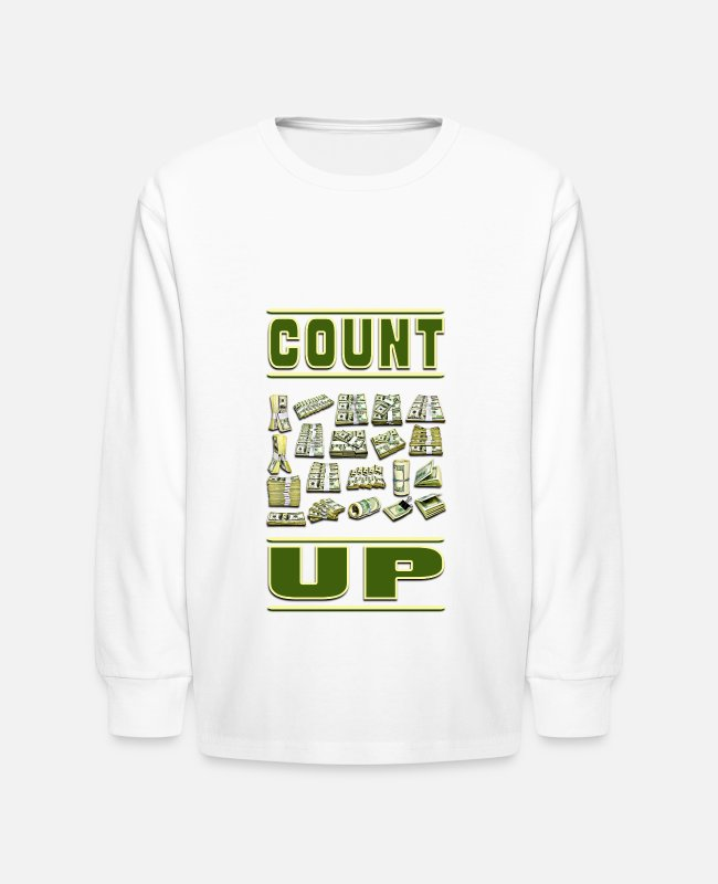 Schland Long-Sleeved Shirts - Count Up - Kids' Longsleeve Shirt white