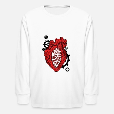 Preme Anatomical Heart. Mechanism. Cardiology Heart - Kids' Longsleeve Shirt