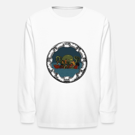 Fat T-Shirts - fat freddys - Kids' Longsleeve Shirt white