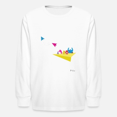Paper-kites Monster Airplane Ride - Kids' Long Sleeve T-Shirt