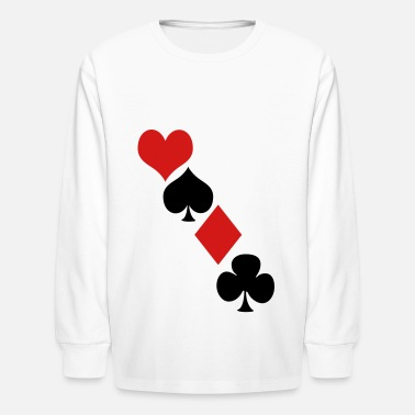 Deck Deck of cards - Kids' Long Sleeve T-Shirt