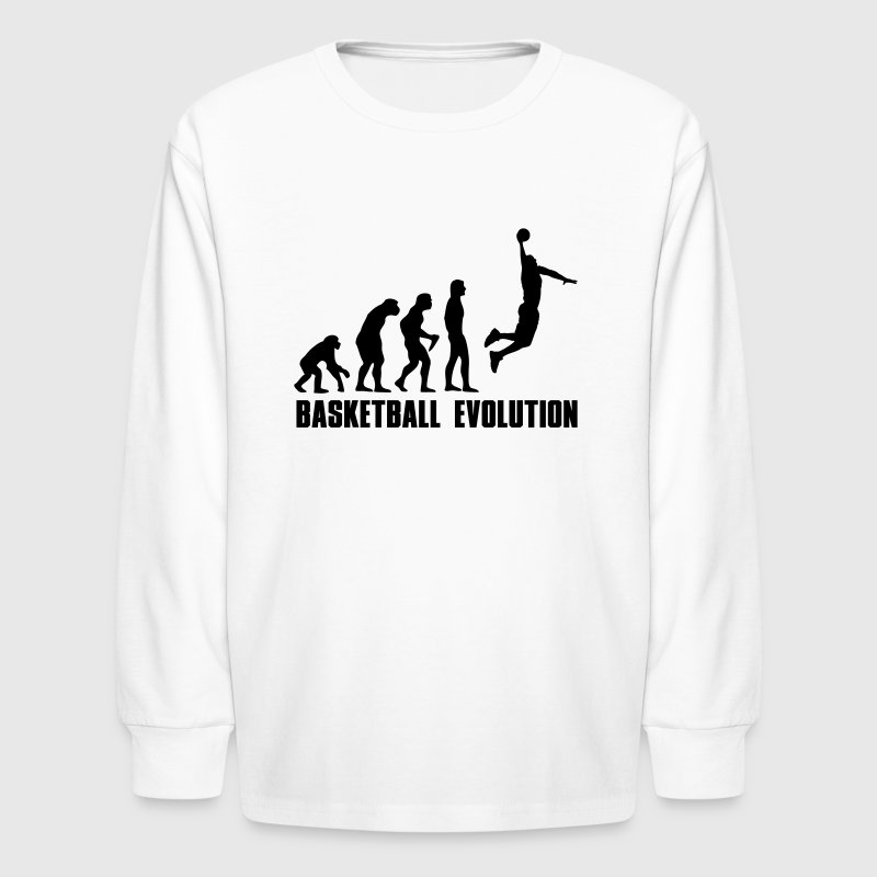 Basketball Evolution Dunk - Kids' Long Sleeve T-Shirt