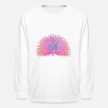 Bright Colors Bright Colorful Peacock - Kids' Long Sleeve T-Shirt
