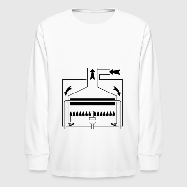 Boiler with a sealed chamber - Kids' Long Sleeve T-Shirt