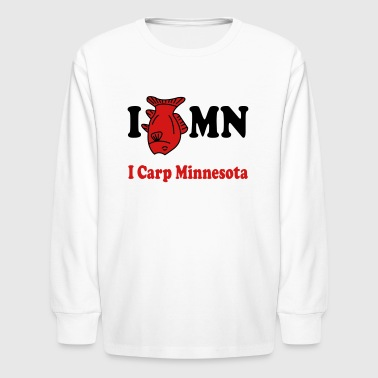 I Love Mn I Carp MN - Kids' Long Sleeve T-Shirt