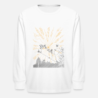 Bright Rays - Kids' Longsleeve Shirt